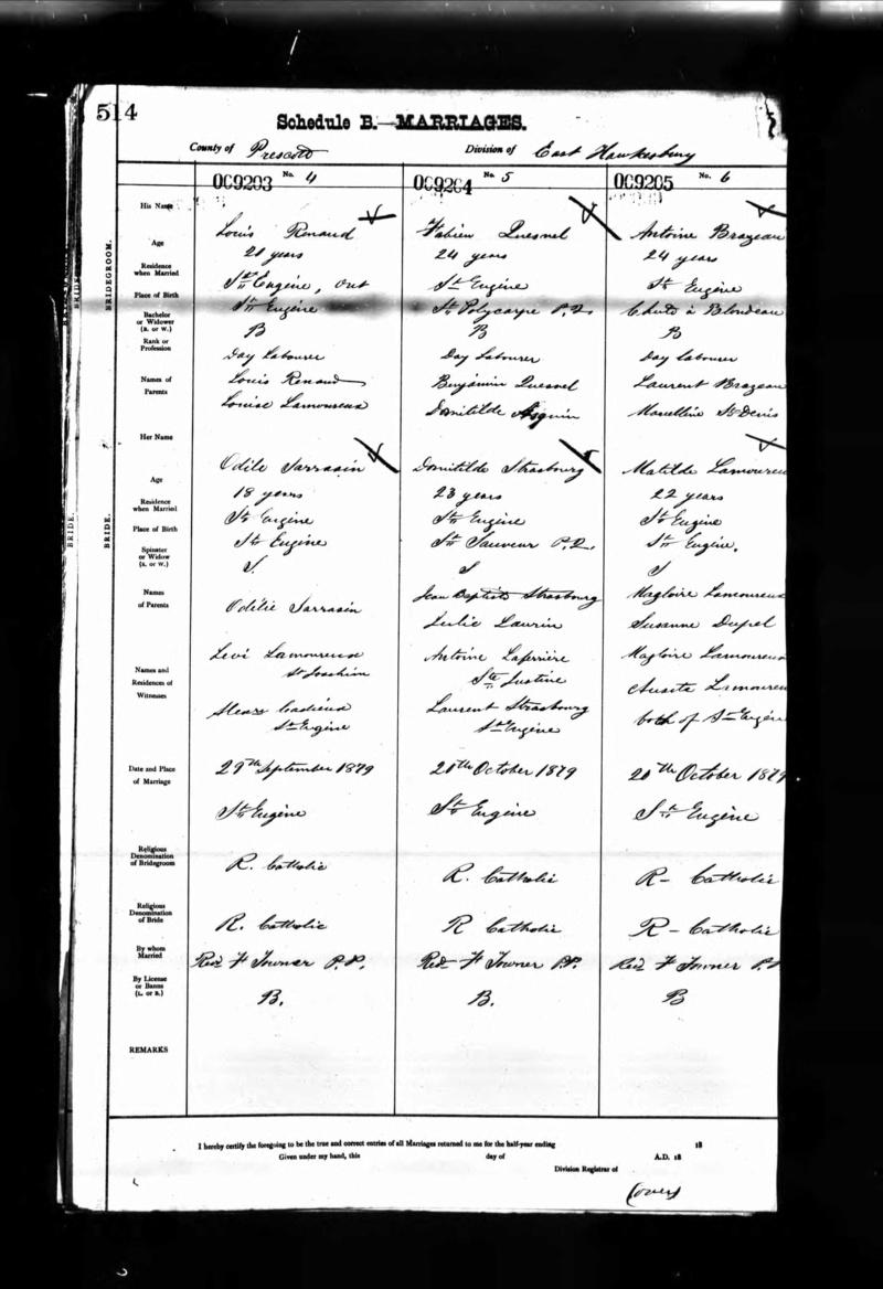 Parents d'Odélie Sarrazin née vers 1830 Odile_10