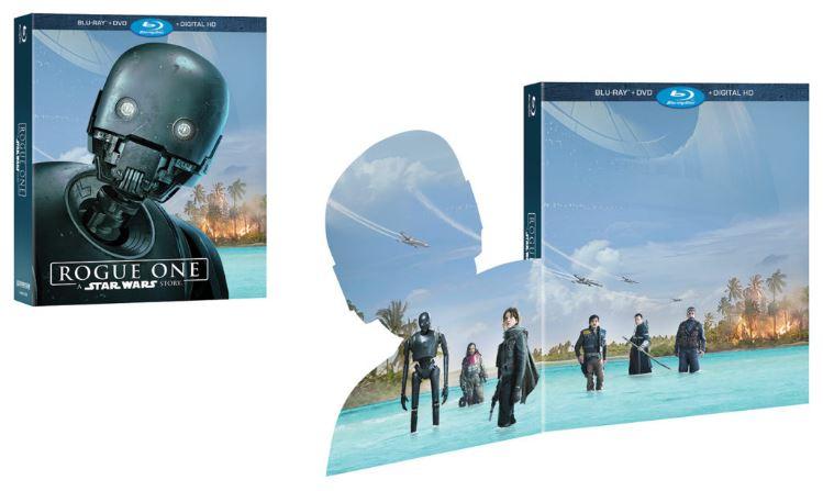 Rogue - DVD Blu Ray Star Wars Roque One Brdvd011