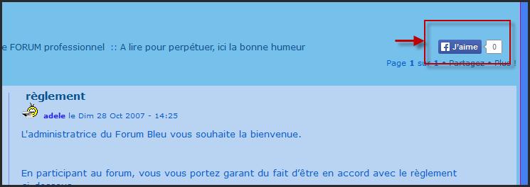 """Nouveauté Forumactif: Bouton """"J'aime"""" dans les sujets 10-03-10"""
