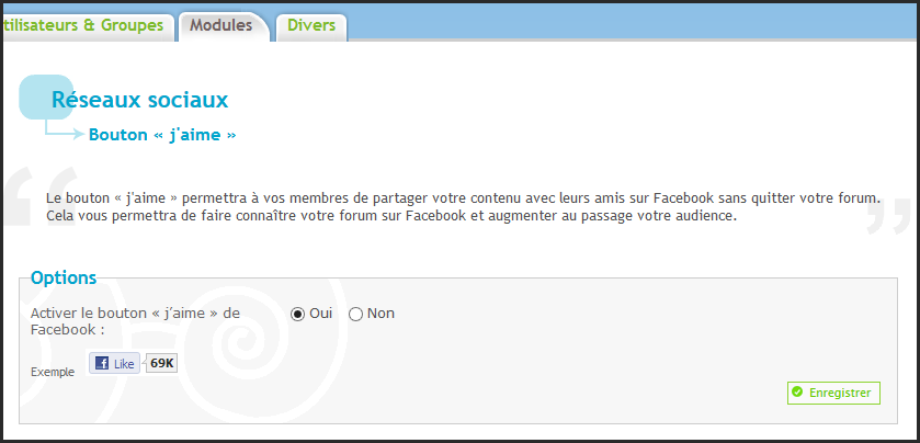 """Nouveauté Forumactif: Bouton """"J'aime"""" dans les sujets 28-02-11"""