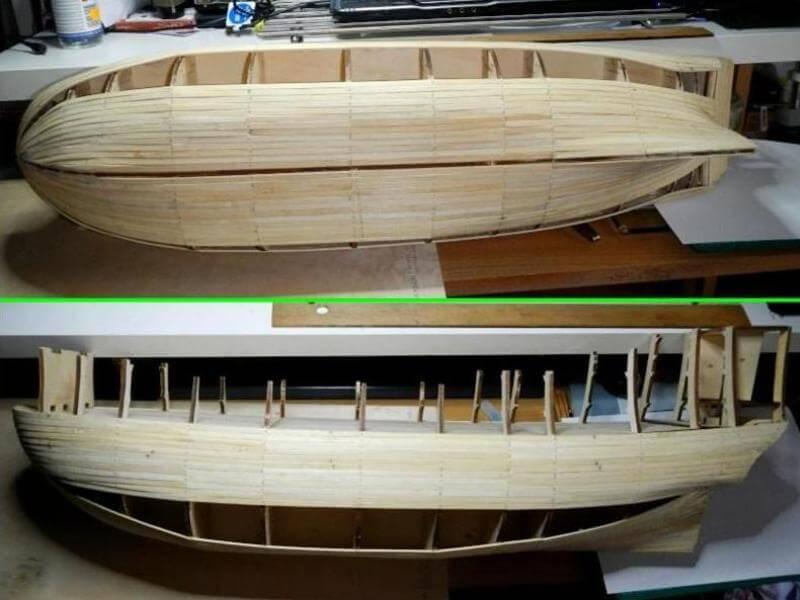 """Construction du """"Sovereign of the Seas"""" au 1/84 par Glénans - Partie I 02010"""