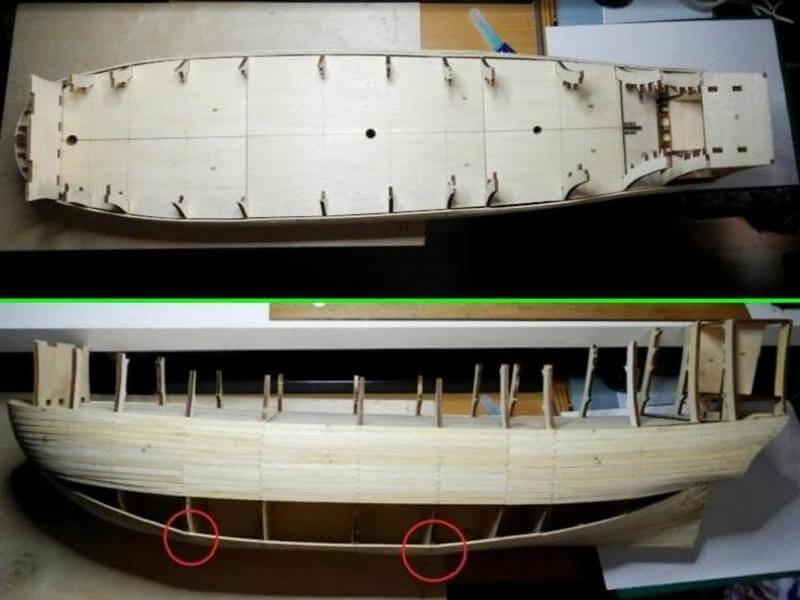 """Construction du """"Sovereign of the Seas"""" au 1/84 par Glénans - Partie I 02110"""