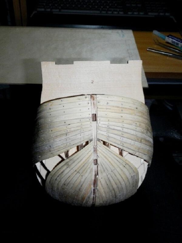 """Construction du """"Sovereign of the Seas"""" au 1/84 par Glénans - Partie I 02410"""