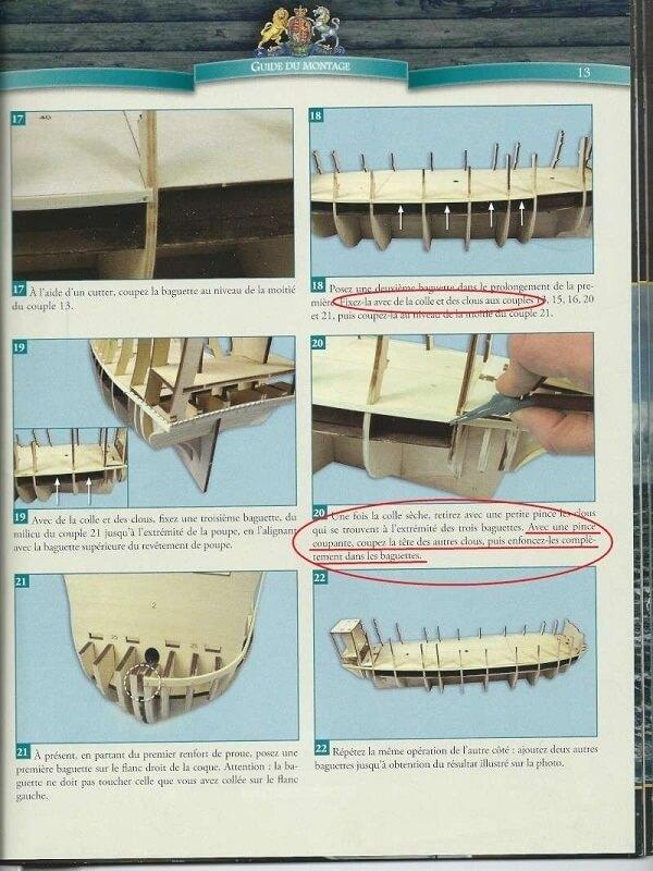 """Construction du """"Sovereign of the Seas"""" au 1/84 par Glénans - Partie I 02810"""