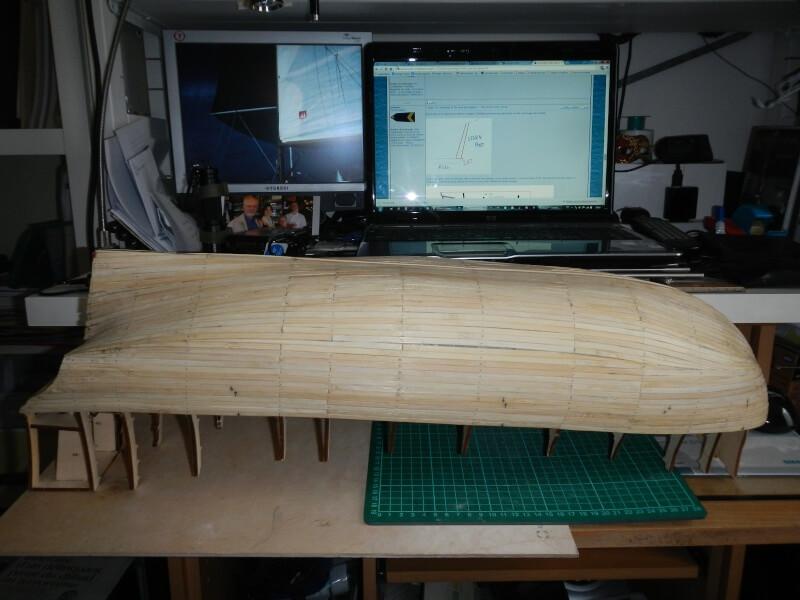 """Construction du """"Sovereign of the Seas"""" au 1/84 par Glénans - Partie I 04610"""