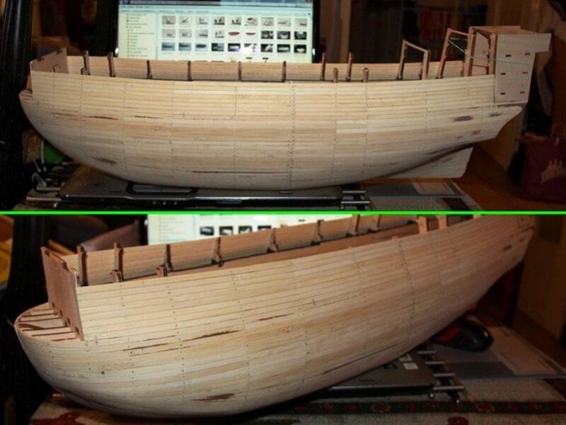"""Construction du """"Sovereign of the Seas"""" au 1/84 par Glénans - Partie I 06010"""
