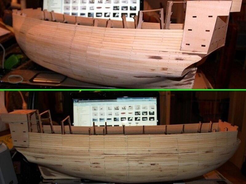 """Construction du """"Sovereign of the Seas"""" au 1/84 par Glénans - Partie I 06210"""