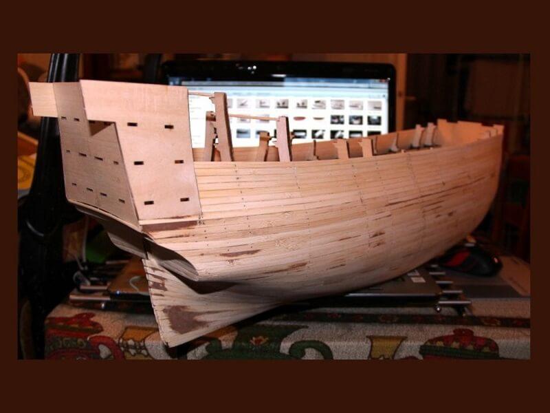 """Construction du """"Sovereign of the Seas"""" au 1/84 par Glénans - Partie I 06410"""