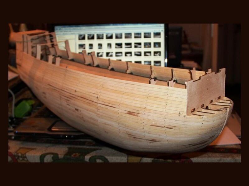 """Construction du """"Sovereign of the Seas"""" au 1/84 par Glénans - Partie I 06610"""