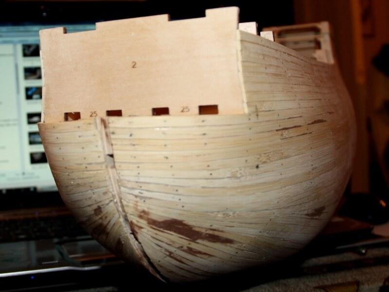 """Construction du """"Sovereign of the Seas"""" au 1/84 par Glénans - Partie I 06810"""