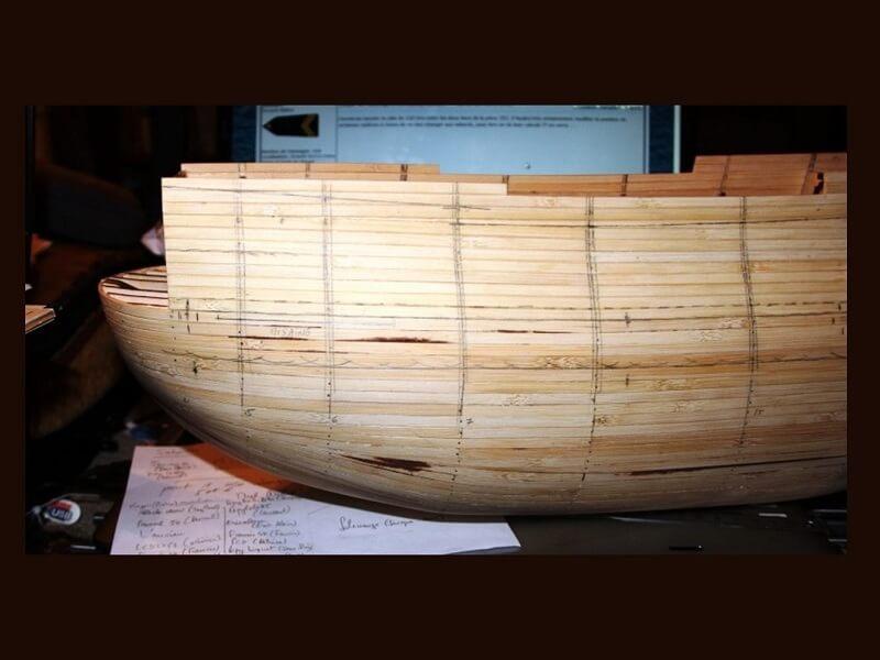 """Construction du """"Sovereign of the Seas"""" au 1/84 par Glénans - Partie I 07610"""