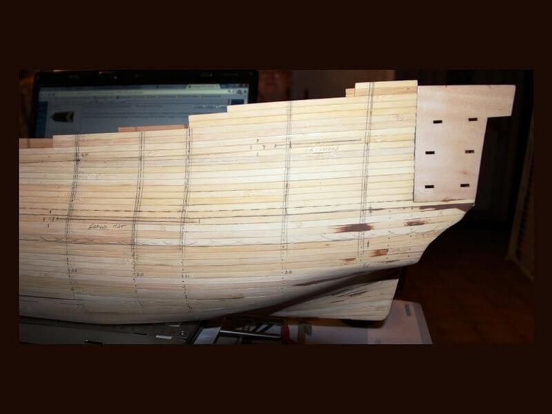 """Construction du """"Sovereign of the Seas"""" au 1/84 par Glénans - Partie I 07710"""