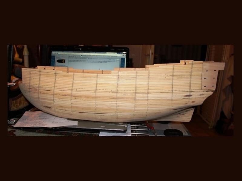 """Construction du """"Sovereign of the Seas"""" au 1/84 par Glénans - Partie I 07810"""