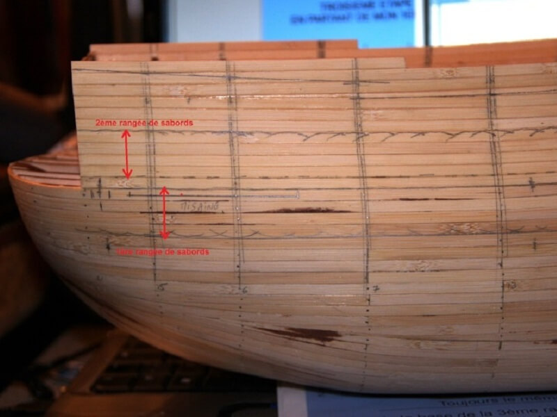 """Construction du """"Sovereign of the Seas"""" au 1/84 par Glénans - Partie I 07910"""