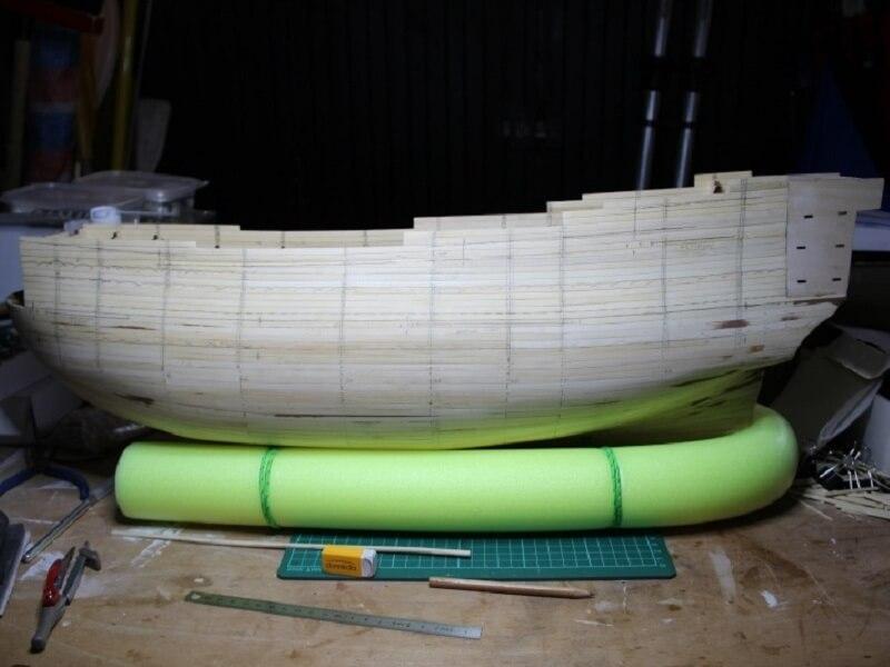 """Construction du """"Sovereign of the Seas"""" au 1/84 par Glénans - Partie I 08110"""