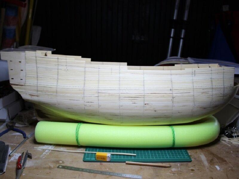 """Construction du """"Sovereign of the Seas"""" au 1/84 par Glénans - Partie I 08210"""