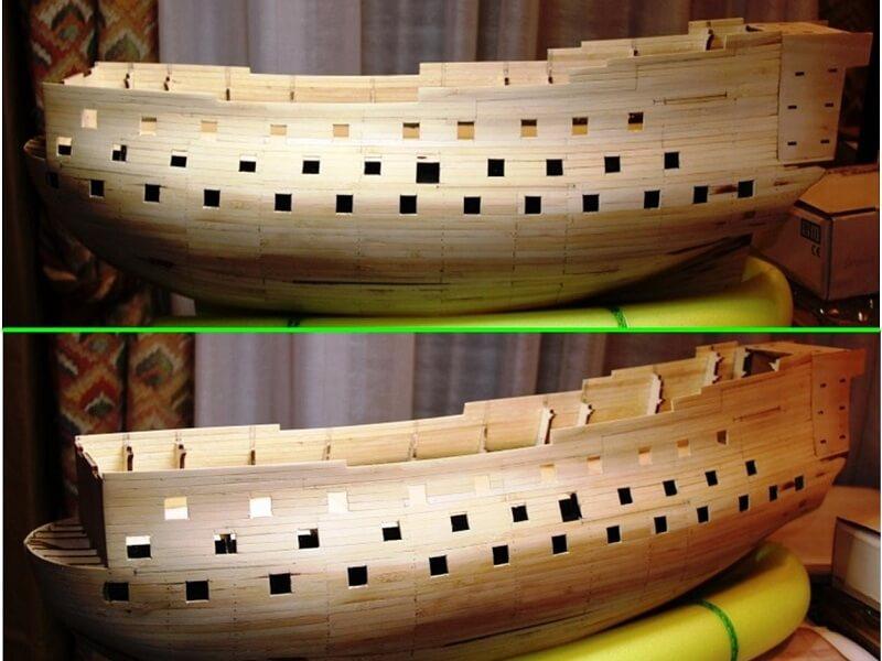 """Construction du """"Sovereign of the Seas"""" au 1/84 par Glénans - Partie I 08910"""