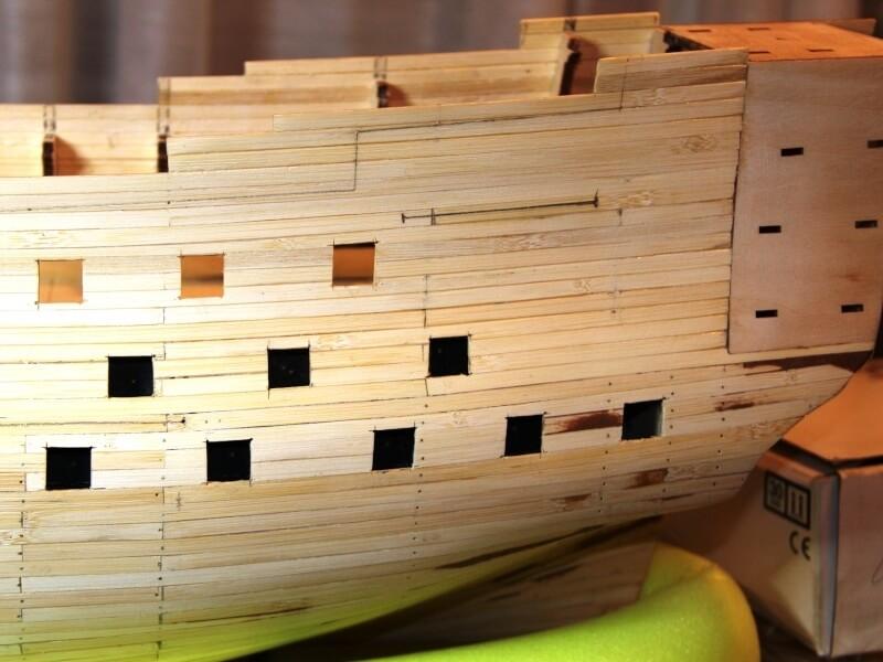 """Construction du """"Sovereign of the Seas"""" au 1/84 par Glénans - Partie I 09410"""