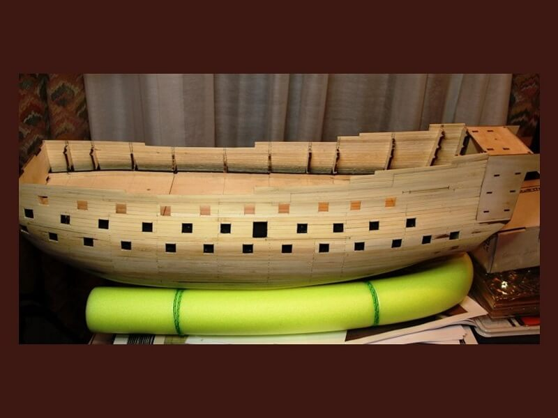 """Construction du """"Sovereign of the Seas"""" au 1/84 par Glénans - Partie I 09510"""