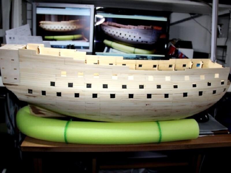 """Construction du """"Sovereign of the Seas"""" au 1/84 par Glénans - Partie I 10110"""