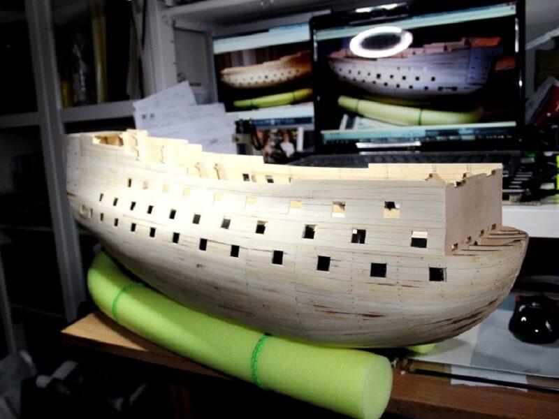 """Construction du """"Sovereign of the Seas"""" au 1/84 par Glénans - Partie I 10310"""