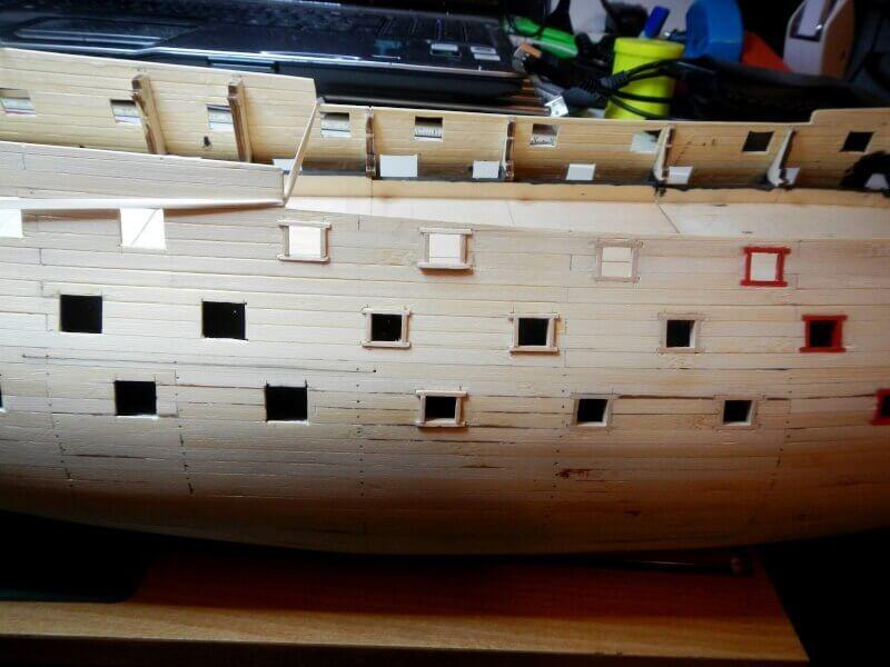 """Construction du """"Sovereign of the Seas"""" au 1/84 par Glénans - Partie I 12310"""