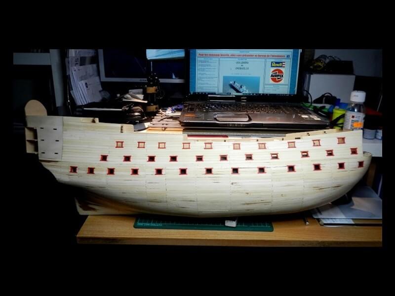 """Construction du """"Sovereign of the Seas"""" au 1/84 par Glénans - Partie I 14510"""