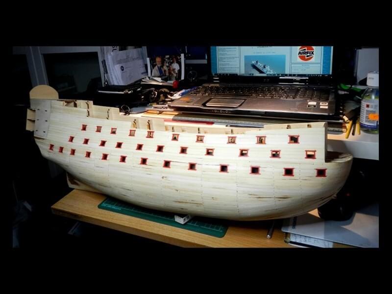 """Construction du """"Sovereign of the Seas"""" au 1/84 par Glénans - Partie I 14610"""