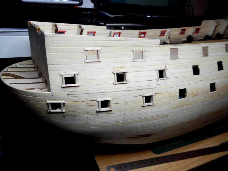 """Construction du """"Sovereign of the Seas"""" au 1/84 par Glénans - Partie I 15210"""