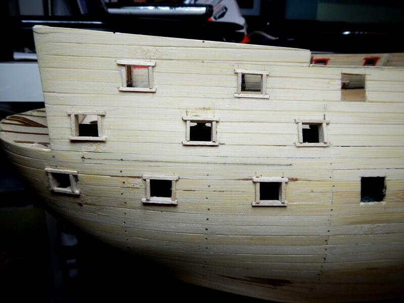 """Construction du """"Sovereign of the Seas"""" au 1/84 par Glénans - Partie I 15310"""