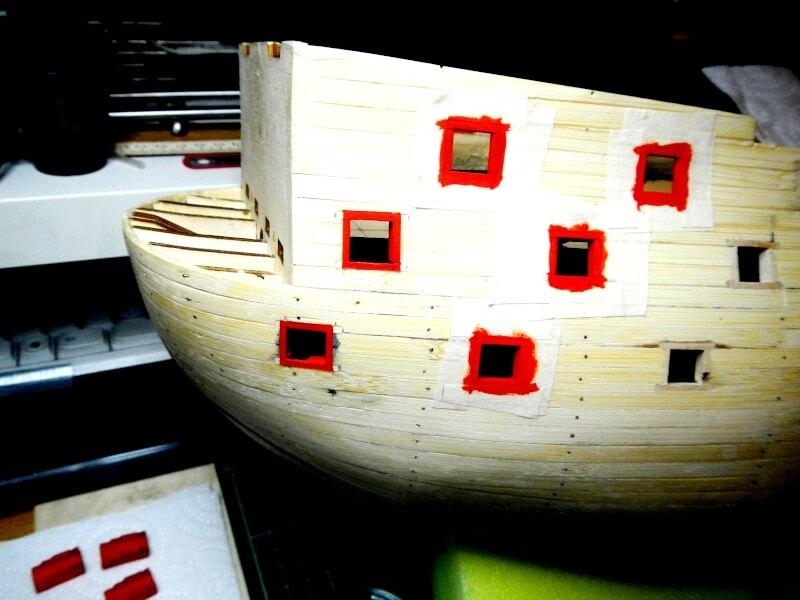 """Construction du """"Sovereign of the Seas"""" au 1/84 par Glénans - Partie I 16210"""