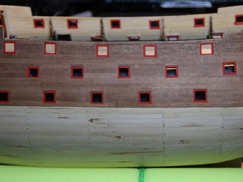 """Construction du """"Sovereign of the Seas"""" au 1/84 par Glénans - Partie I 20110"""
