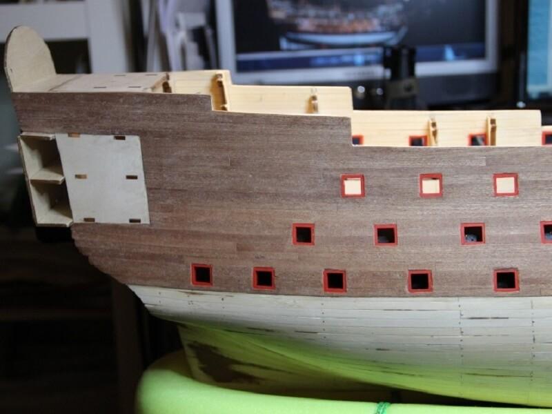 """Construction du """"Sovereign of the Seas"""" au 1/84 par Glénans - Partie I 20210"""