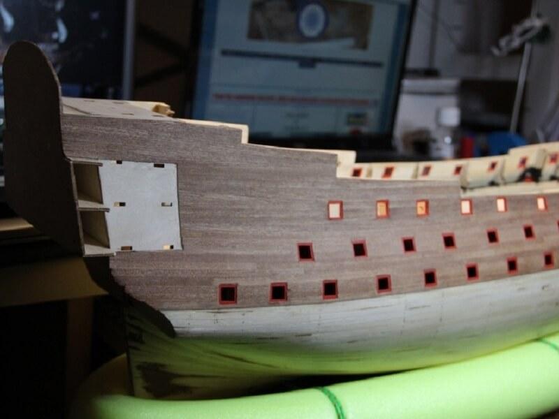 """Construction du """"Sovereign of the Seas"""" au 1/84 par Glénans - Partie I 20310"""