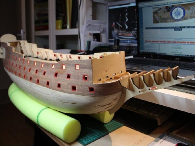 """Construction du """"Sovereign of the Seas"""" au 1/84 par Glénans - Partie I 20410"""