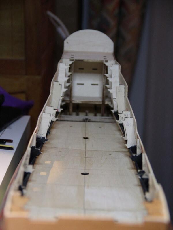 """Construction du """"Sovereign of the Seas"""" au 1/84 par Glénans - Partie I 20810"""