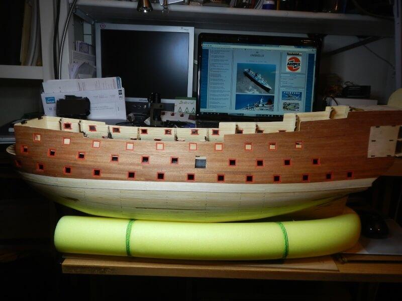 """Construction du """"Sovereign of the Seas"""" au 1/84 par Glénans - Partie I 21310"""