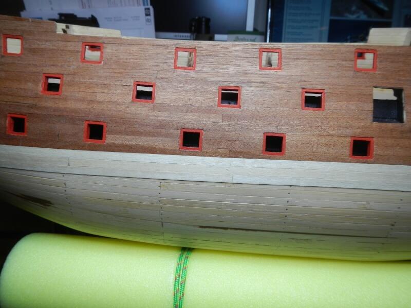 """Construction du """"Sovereign of the Seas"""" au 1/84 par Glénans - Partie I 21510"""
