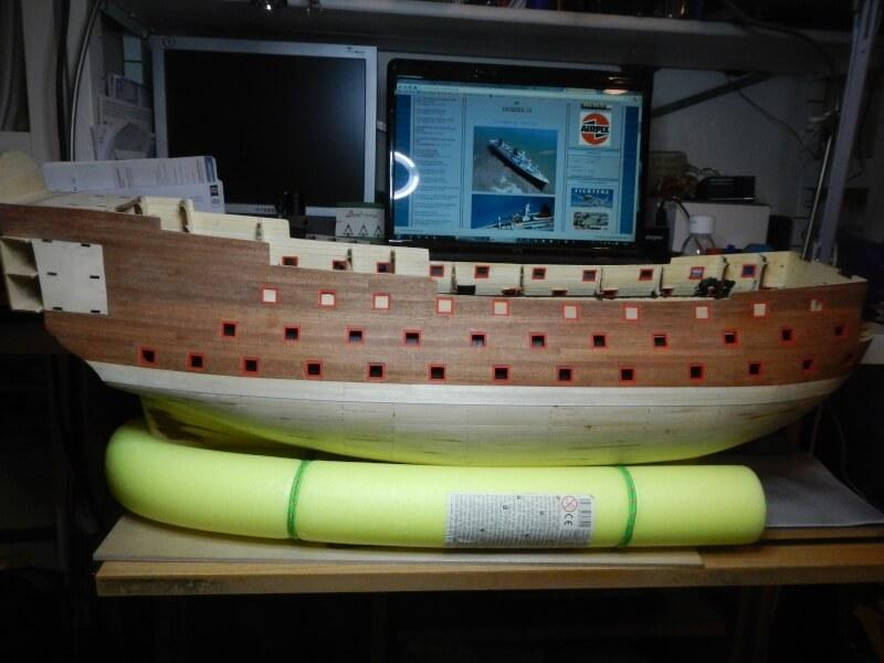 """Construction du """"Sovereign of the Seas"""" au 1/84 par Glénans - Partie I 21710"""