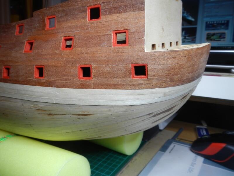 """Construction du """"Sovereign of the Seas"""" au 1/84 par Glénans - Partie I 22010"""