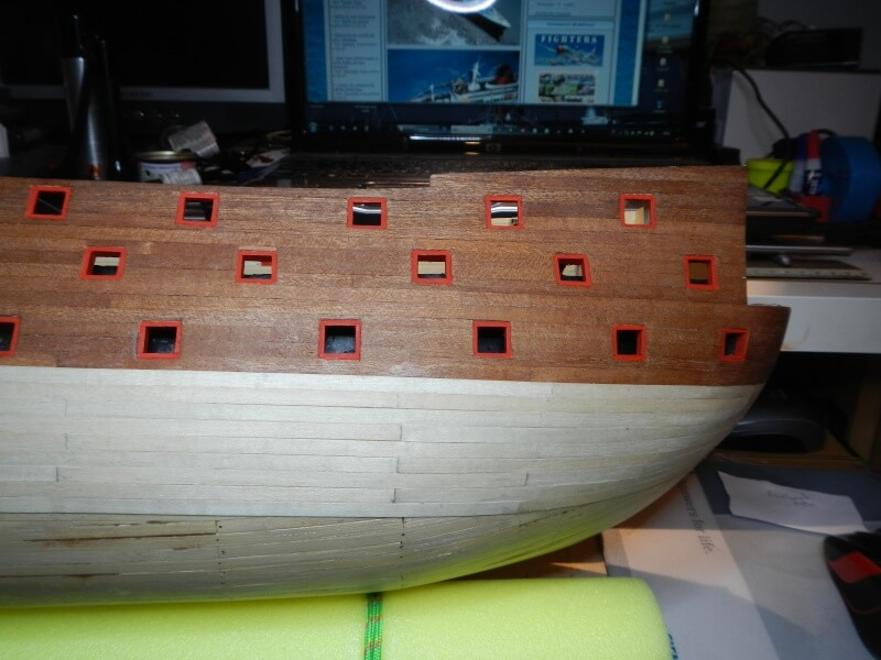 """Construction du """"Sovereign of the Seas"""" au 1/84 par Glénans - Partie I 22910"""