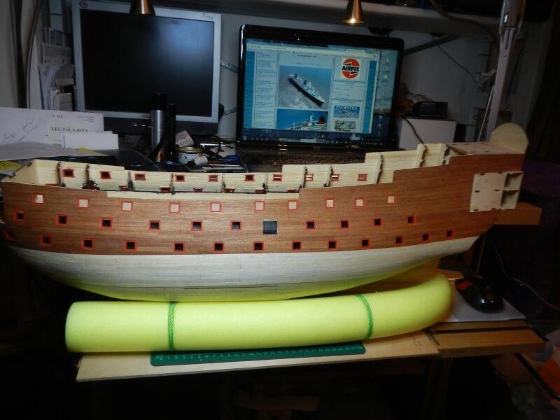 """Construction du """"Sovereign of the Seas"""" au 1/84 par Glénans - Partie I 23210"""