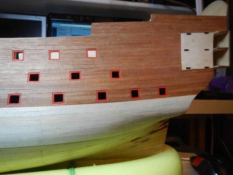 """Construction du """"Sovereign of the Seas"""" au 1/84 par Glénans - Partie I 23310"""