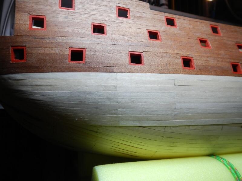 """Construction du """"Sovereign of the Seas"""" au 1/84 par Glénans - Partie I 23510"""