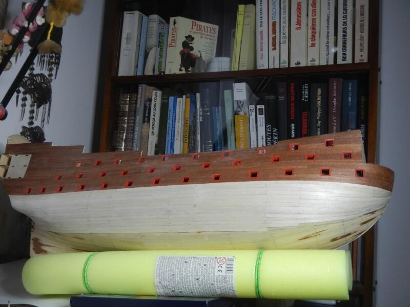 """Construction du """"Sovereign of the Seas"""" au 1/84 par Glénans - Partie I 23910"""
