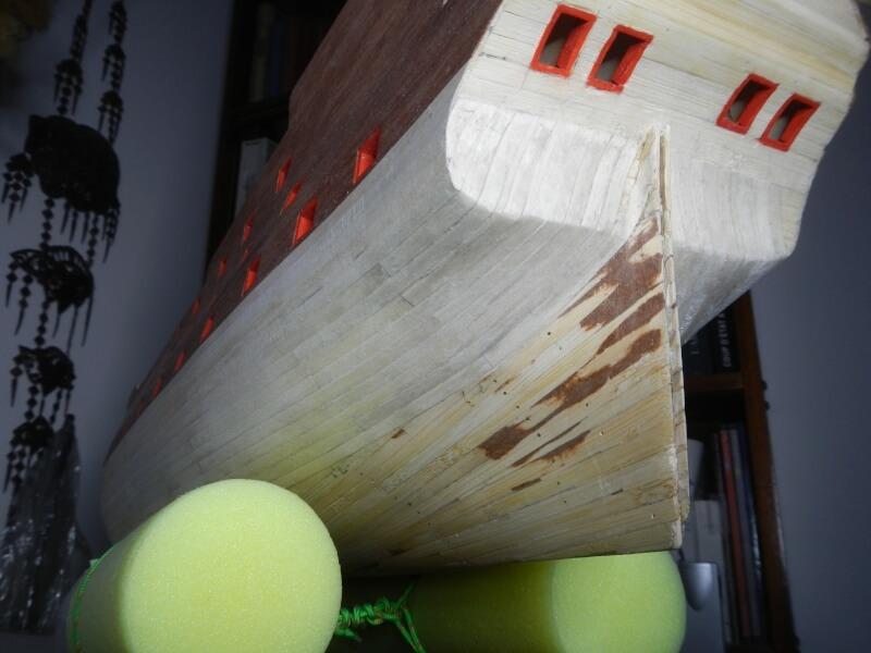 """Construction du """"Sovereign of the Seas"""" au 1/84 par Glénans - Partie I 24410"""