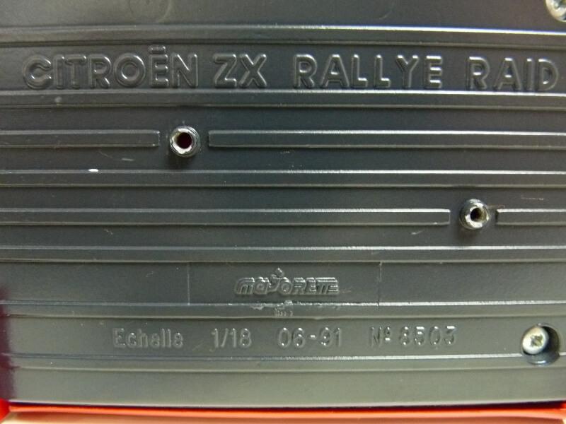 Citroën ZX Rallye Raid - 1991 - Majorette 1/18 ème Citzxr10