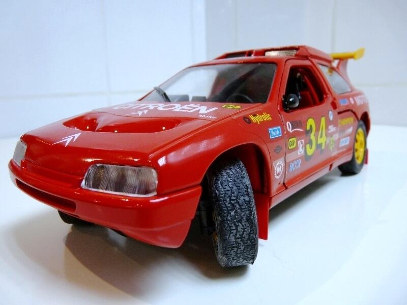 Citroën ZX Rallye Raid - 1991 - Majorette 1/18 ème Citzxr14