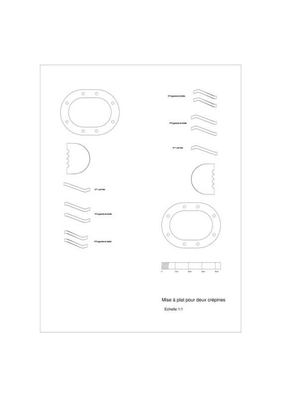 Fabrication de deux crépines pour Tamar - C.A.O. & Métallurgie  Crepin10