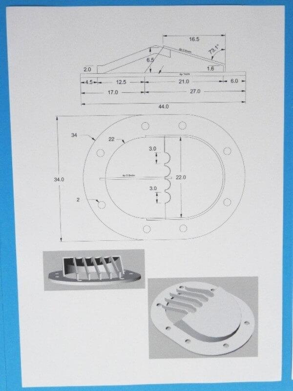 Fabrication de deux crépines pour Tamar - C.A.O. & Métallurgie  Crepin11